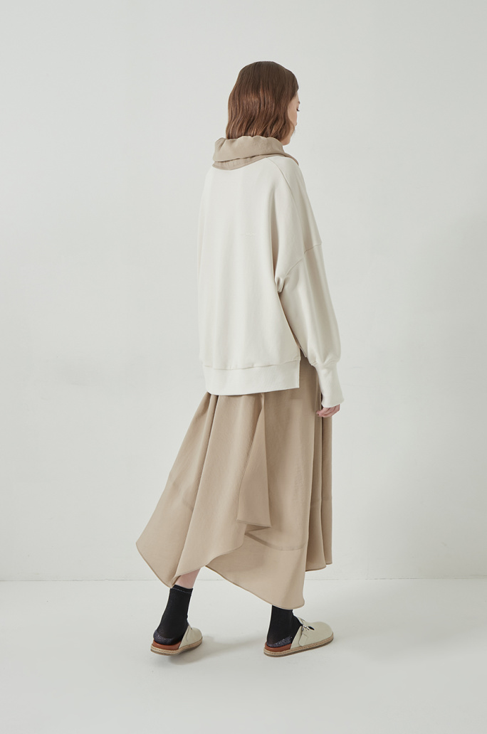 Layer top hood dress