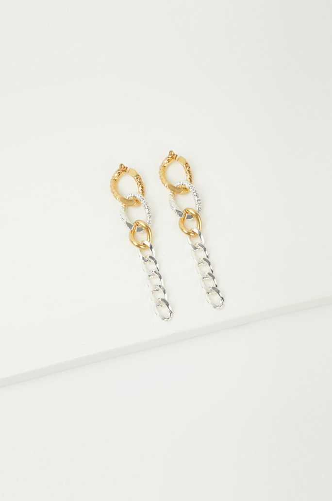 Mix texture earrings