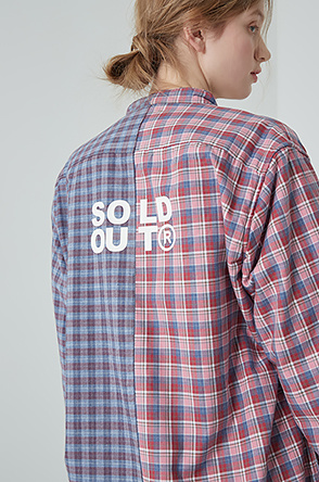 [SOLD OUT] 텍스처 블록 셔츠