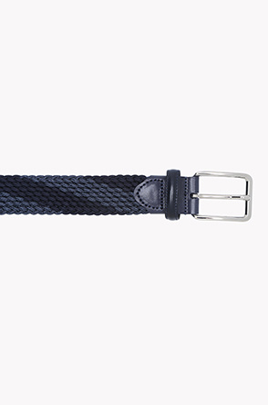 Diagonal color line weaving belt