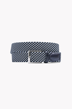 Multi color check weaving belt