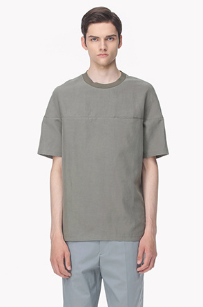 Slit pocket linen T shirt