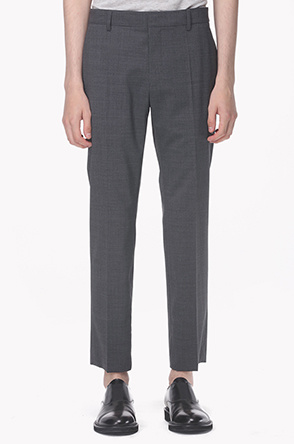 Micro checked wool pants