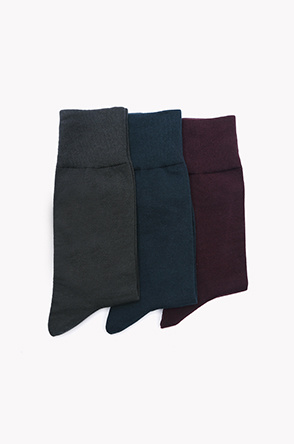 Solid color socks 3 set