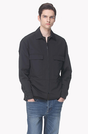 Flap pocket shirt jumper