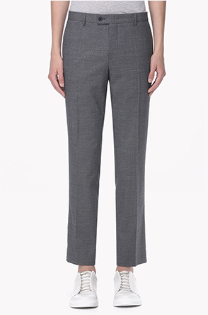 Wool and cotton blend pants