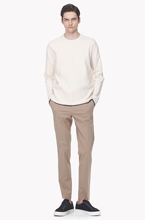 Straight fit twill pants