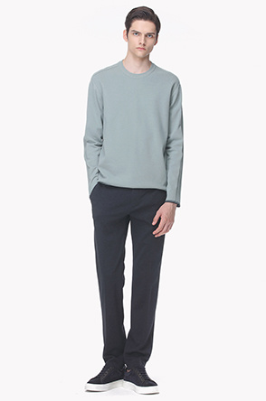 Textured stretch jersey pants