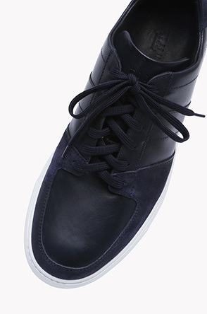 [LION] Leather and suede two tone sneakers
