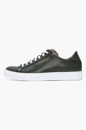 [LION] Saffiano embossing leather sneakers