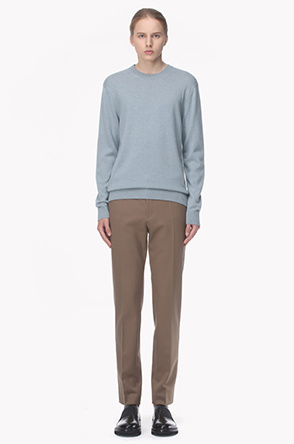 Wool blend straight fit pants