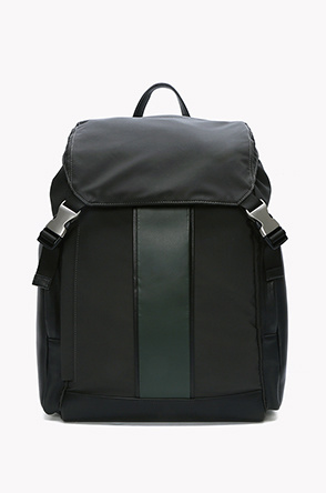 Cow leather buckle backpack