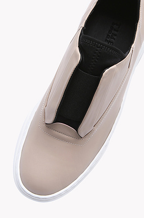 Leather banding top sneakers