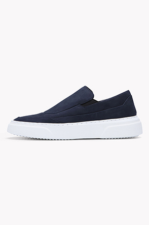Cow suede banding slip on