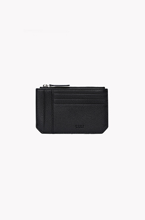 Cow leather zipper card wallet