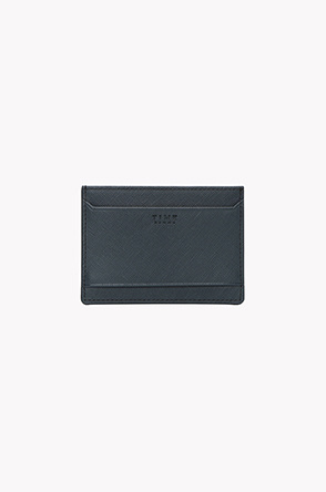 Cow leather saffiano embossing card wallet