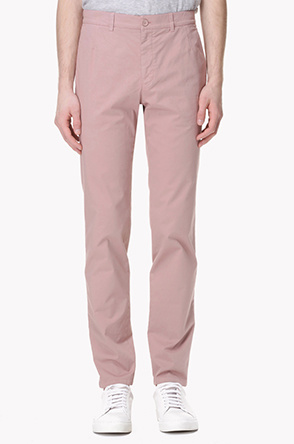 Washed stretch cotton pants