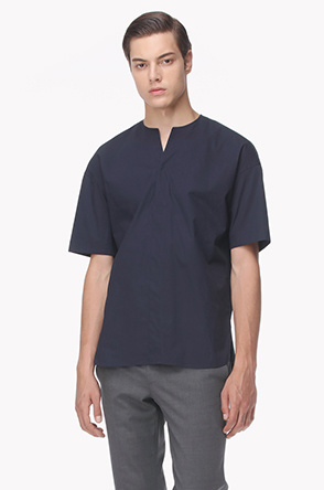 Notch henley neck shirt