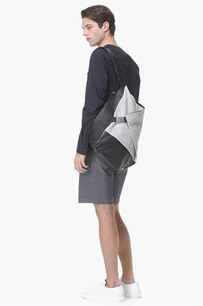 Contrast one strap backpack