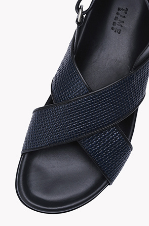 Cross strap velcro sandals