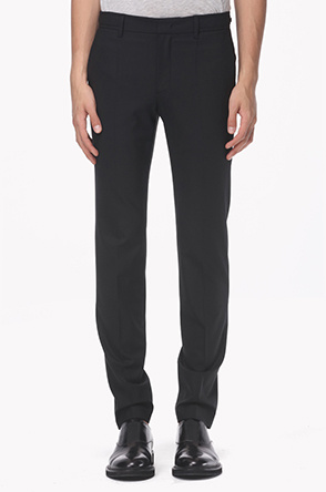 Side belt zipper stretch pants