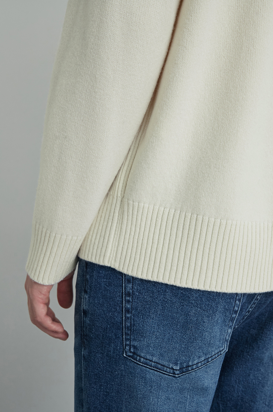 Collar knit sweater