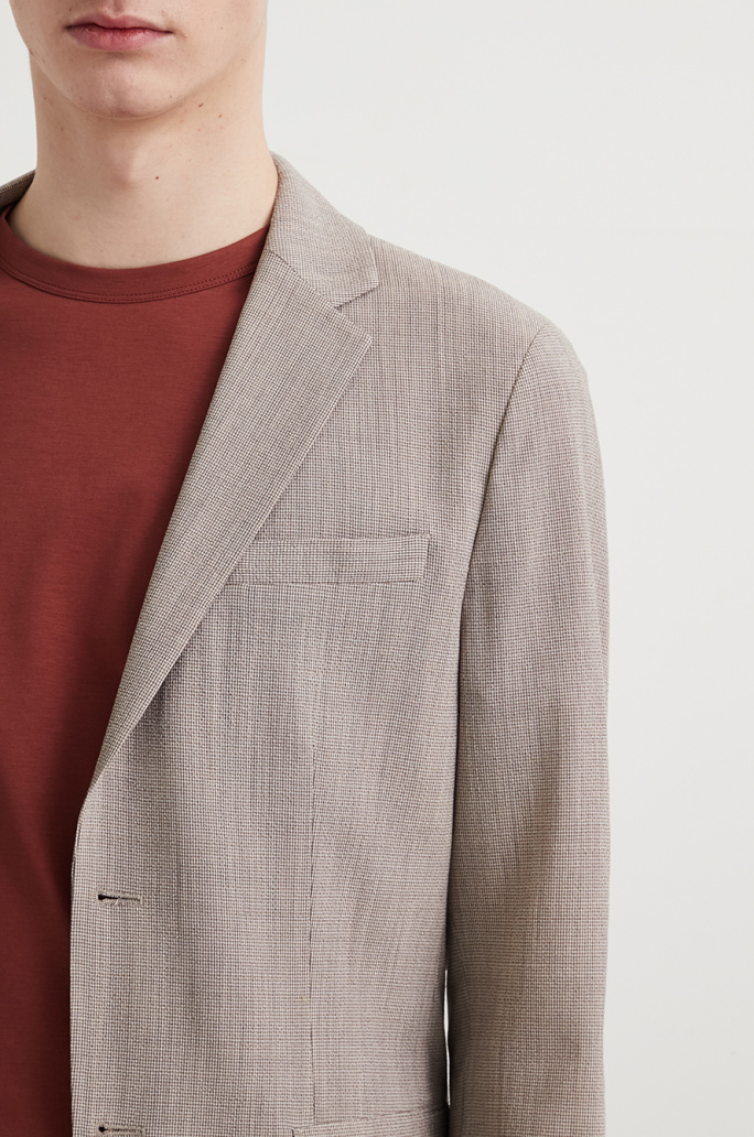 Wool blend two-way jacket