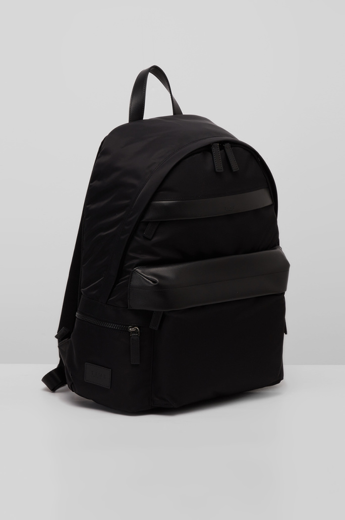 Leather block back pack