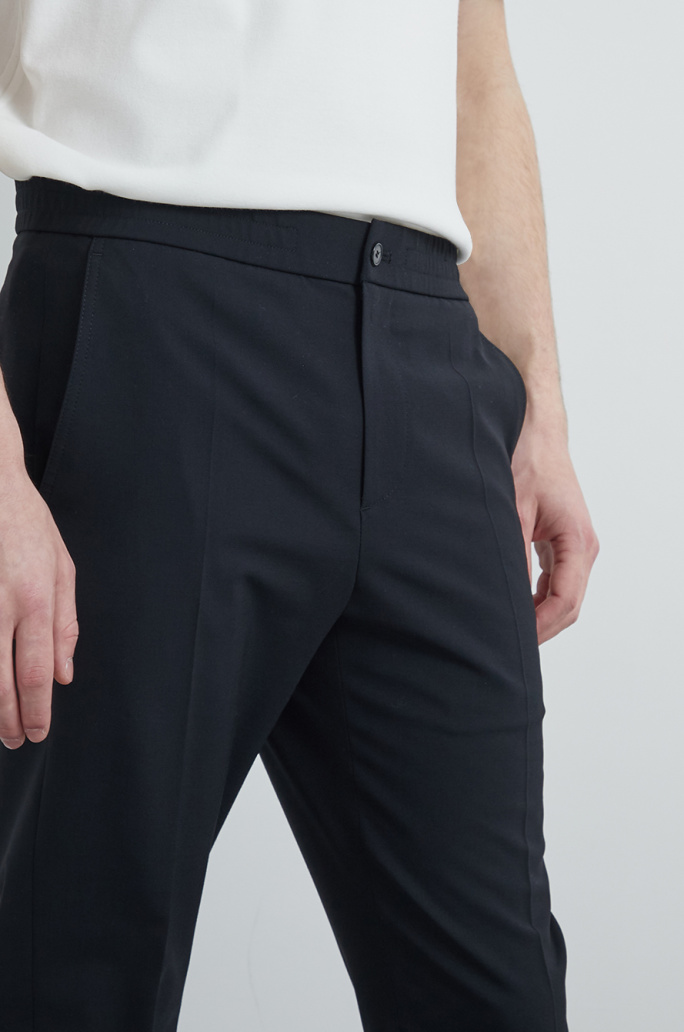 [Re-order] Wool blend banding pants