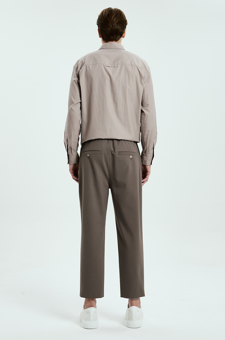 banding tapered pants