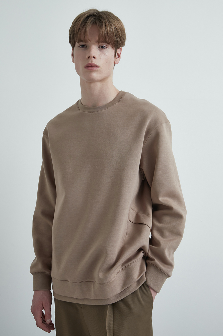 Layer hem sweatshirt