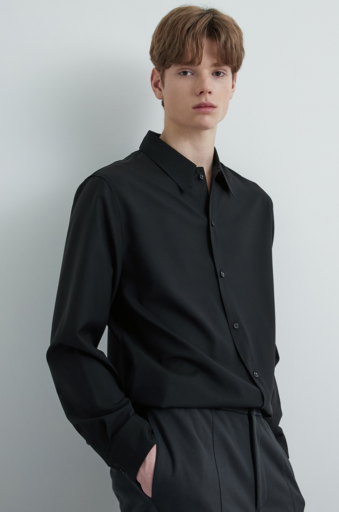 Solid wool shirt