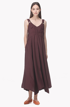 Shoulder strap maxi dress
