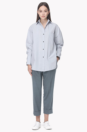 Panneled cotton shirt