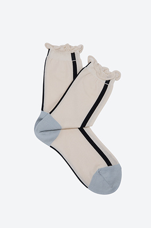 [HANSEL FROM BASEL] Color line thin socks