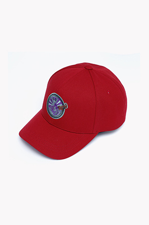 Patch leather strap ball cap