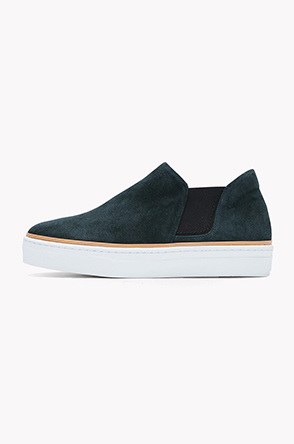 Lamb suede mid top slip on