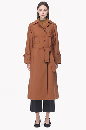 A line trench coat