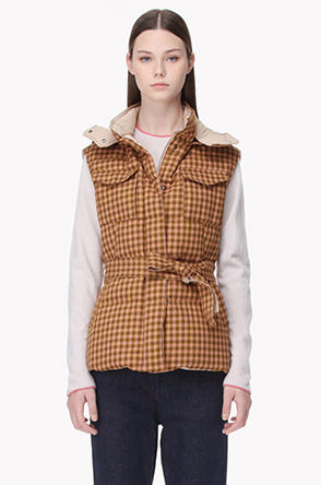 Wool reversible goose down vest