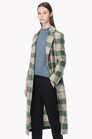 Wool slit detail coat