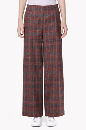 Lambswool and cashmere wide pants