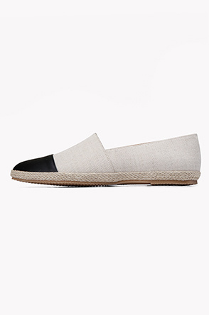 Toe leather point espadrille