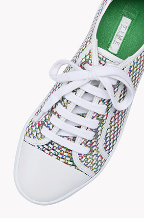 Multi color tweed sneakers