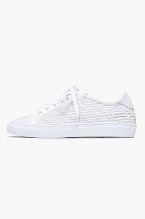 Cable texture lace up sneakers
