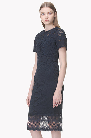 Leavers lace slim fitted dress