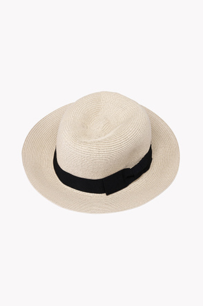 Contrast band straw sun hat