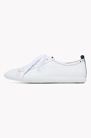 Cubic detailed thin sole sneakers