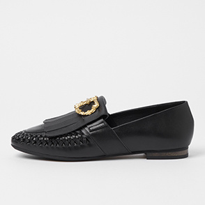 [MASSIMO SANTINI] Emblem leather mules