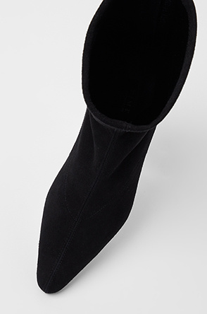 Suede middle boots