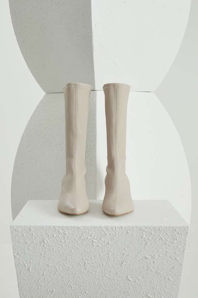 Lambskin middle boots